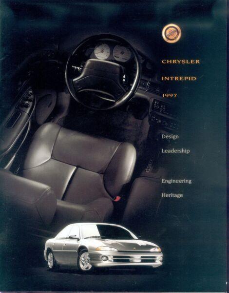 100% Vero Chrysler Intrepid Prospetto Gb 1997 Brochure Auto Prospetto Auto Automobili Opuscolo Usa