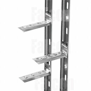 10-x-WALL-STARTER-RAILS-41-x-1200mm-STAINLESS-STEEL-FIXINGS-PLUGS-amp-WALL-TIES