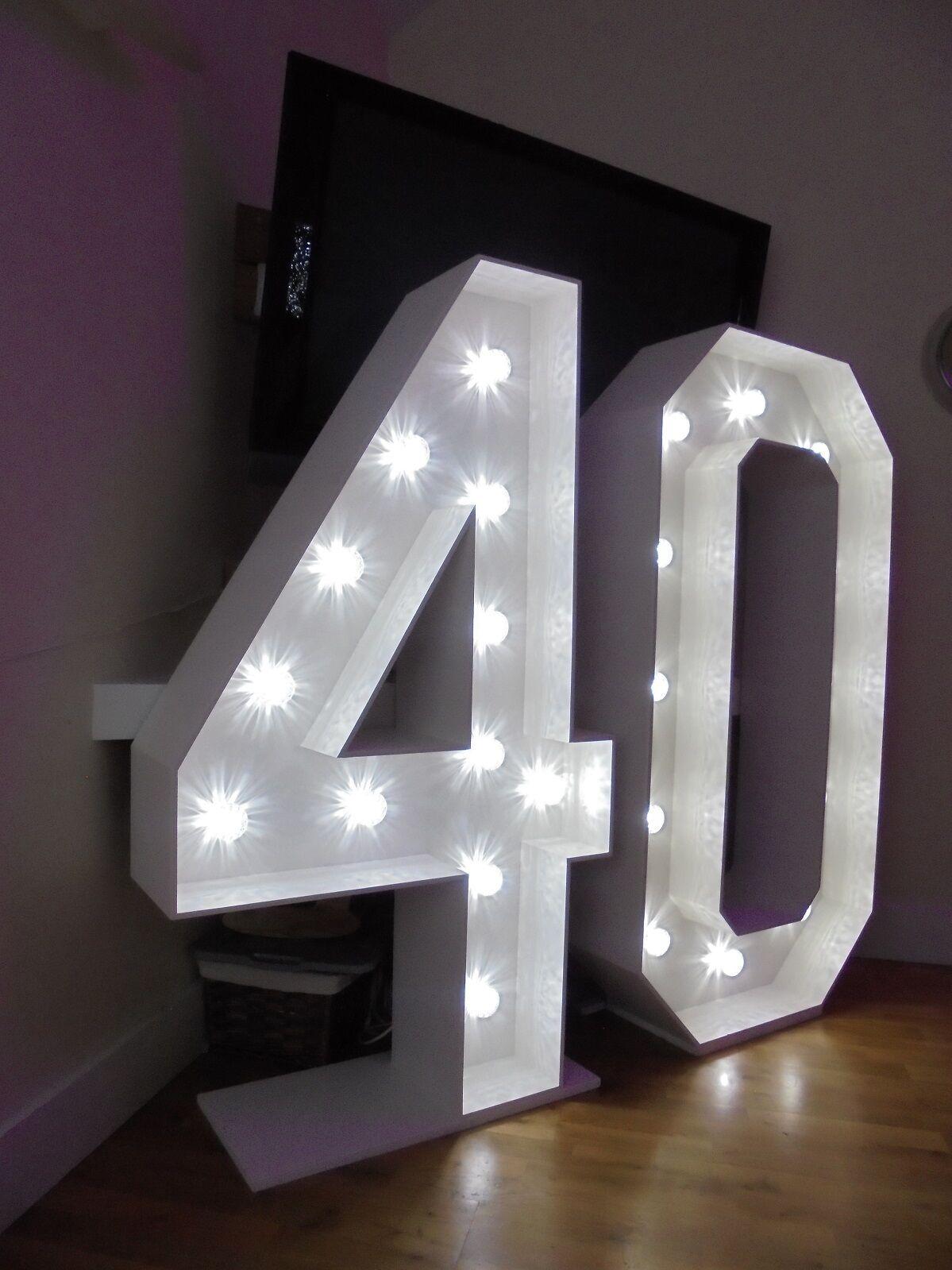 40th Mariage Anniversaire Fête  5 FT (environ 1.52 m) numéro 40  embaucher dans Essex