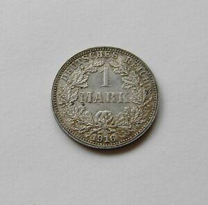 Imperio: 1 Marco 1916 Para , J. 17 ,Fast sin Circulación, II Genial Patina