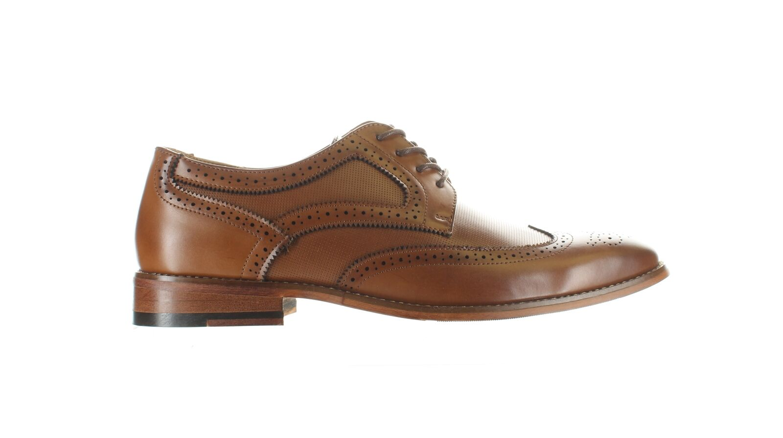 Kenneth Cole Mens Blake Cognac Wing Tips Size 8.5 (2000778)