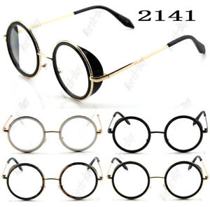 42e316d6af0 New Funky Fashion Clear Lens Round Glasses Frame Mens Womens Hipster ...