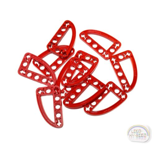 Thin 10 x /'L/' Studless Beams w// Ellipse Red LEGO Technic New Liftarms