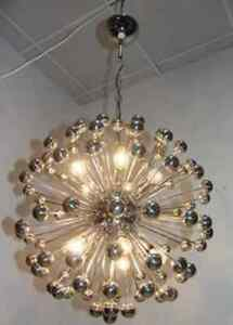 1960s original vintage atomic sputnik chandelier ebay image is loading 1960s original vintage atomic sputnik chandelier mozeypictures Image collections