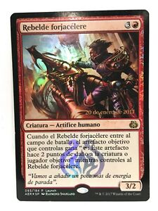 Rebelde-Forjacelere-Quicksmith-Rebel-Papier-Alu-Promo-MTG-Espagnol-LP-NM