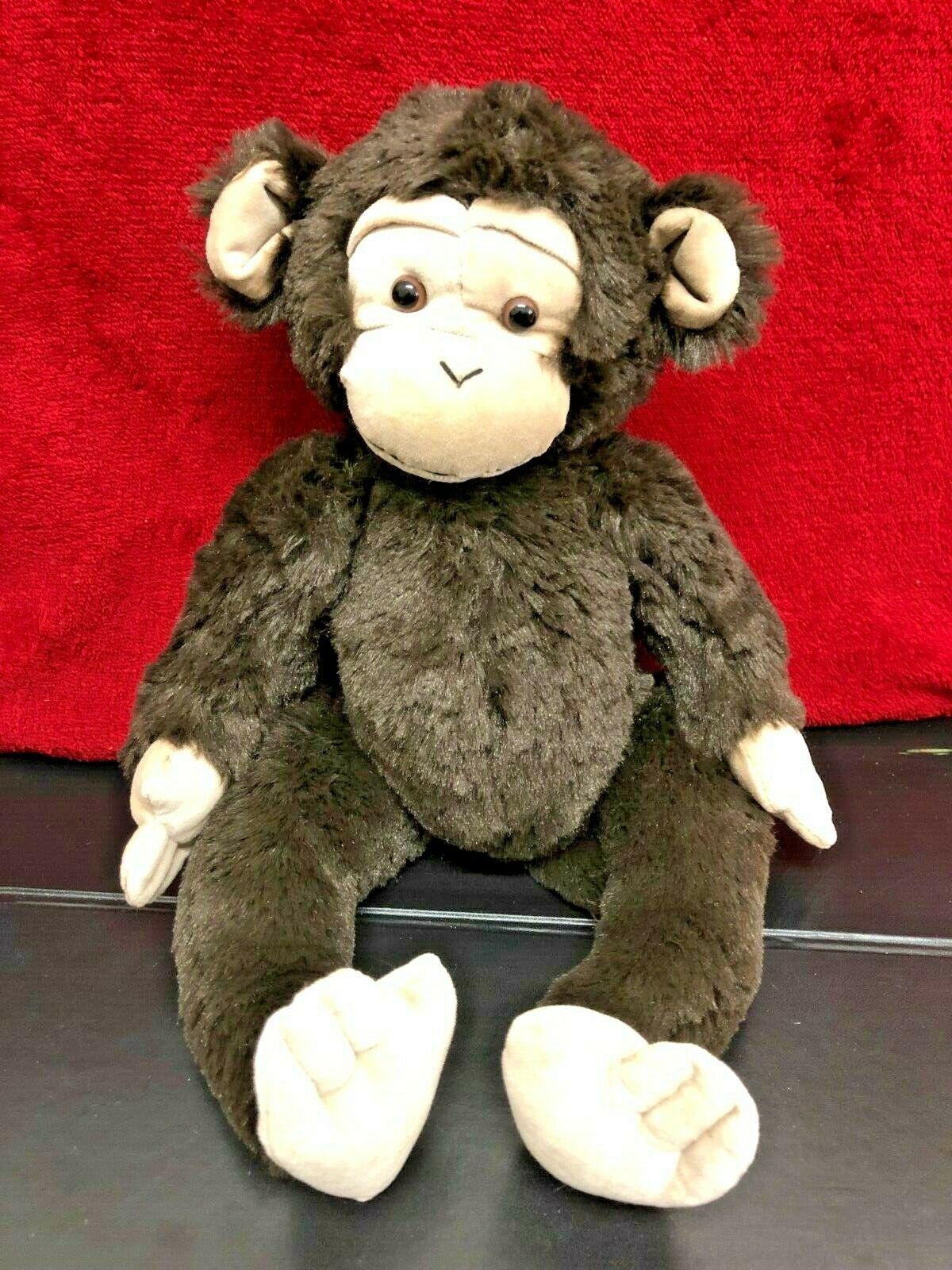Brown Monkey Beanie Middle Soft Toy 14  By Citta New Zealand