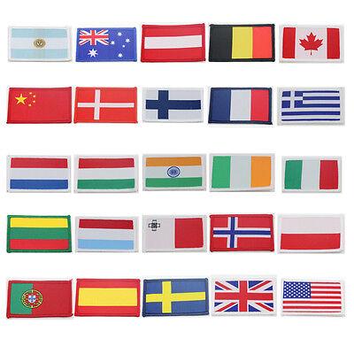 SPAIN SWEDEN U.K. PORTUGAL MALTA USA IRELAND IRON ON FLAGS POLAND NORWAY