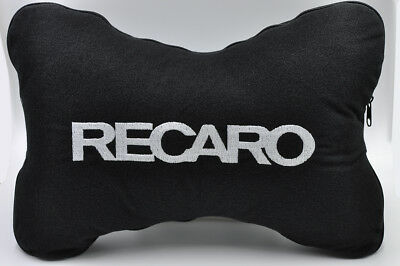 One piece Embroidery Red Bride Racing Logo on Black Soft Headrest Neck Pillow