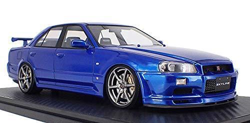 Ignición Modelo 1 18 Nissan Skyline 25GT Turbo (ER34) Azul Metálico 2 IG1581 EMS