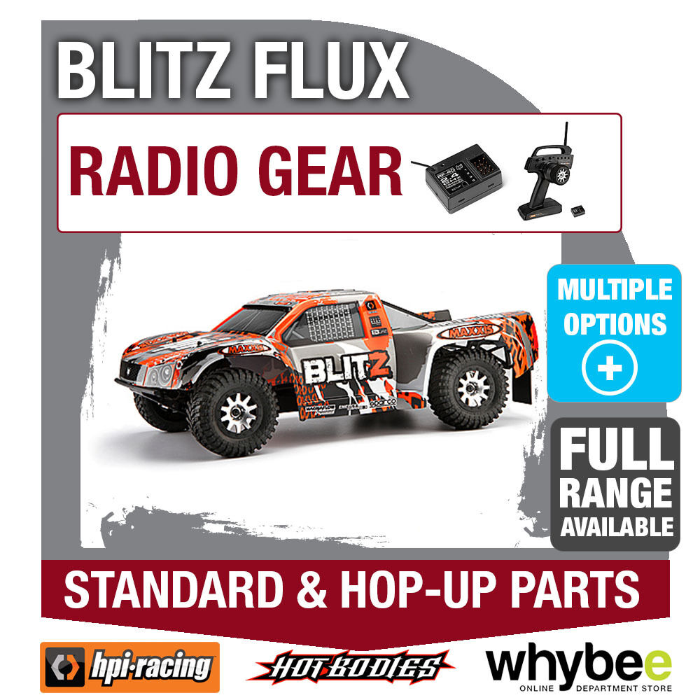HPI Blitz FLUX [ Radio Gear ] Genuine HPI RACING R / C STANDARD & HOP-UP parti