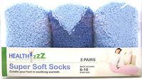 Health Zzz Cvs Super Soft Cozy Fuzzy Comfortable Socks 6-10 Blue 3 Pairs