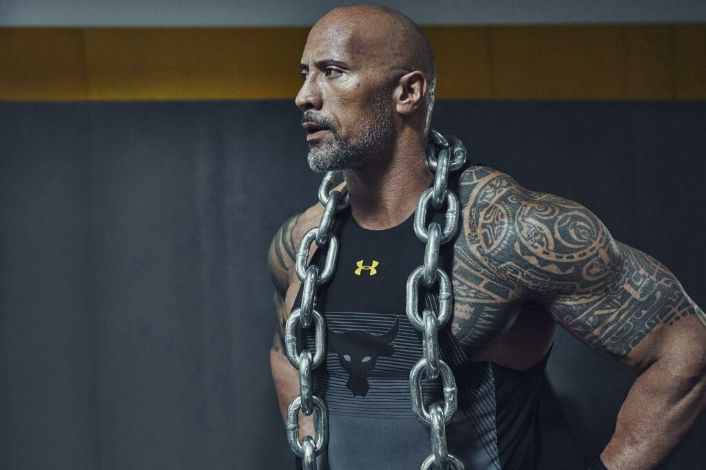 G0304 Dwayne Johnson Training Workout Wrestling Star Laminated Poster UK