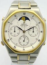 Seiko retro chronograph luna fase ref. 7a48-6000 final Quartz 80er años