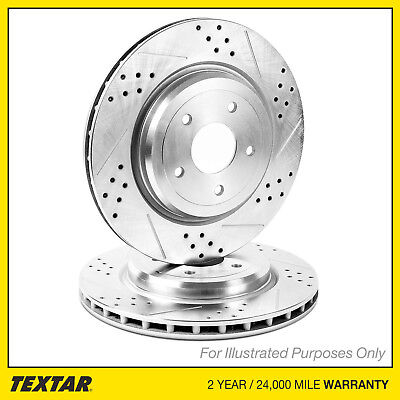 Fits Mercedes S-Class W221 S 320 CDI Textar Coated High-Carbon Front Brake Discs