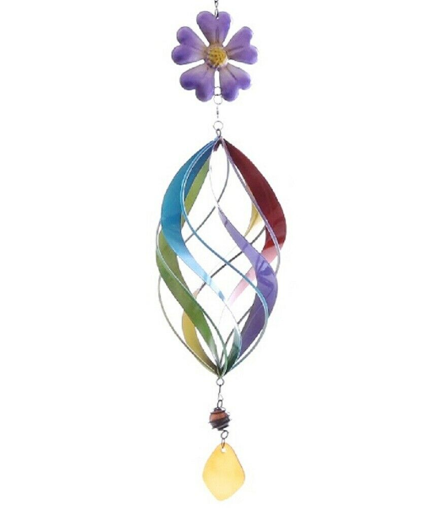 Garden Wind Chime Flower, Ornament, Colorful Pendant Flower from Metal