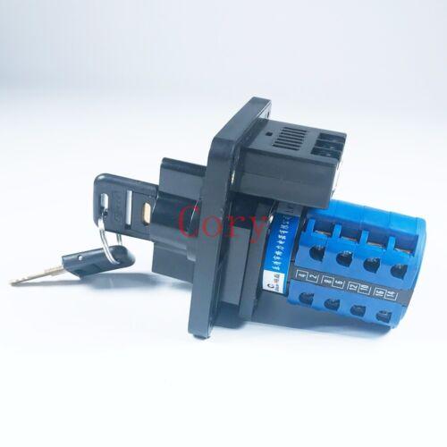 1PCS Changeover Switch 20A 380-440V//220-240V 3 Positions Key lock LED indicator