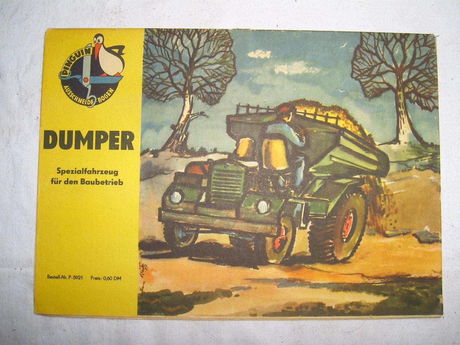 Pinguin Ausschneidebogen , Dumper , 1959 , Selten