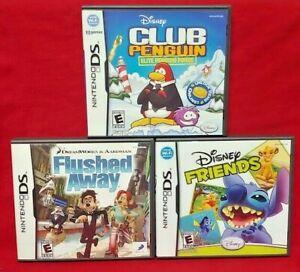 Disney-Friends-Flushed-Away-Club-Penguin-Game-Lot-Nintendo-DS-Lite-3DS-2DS
