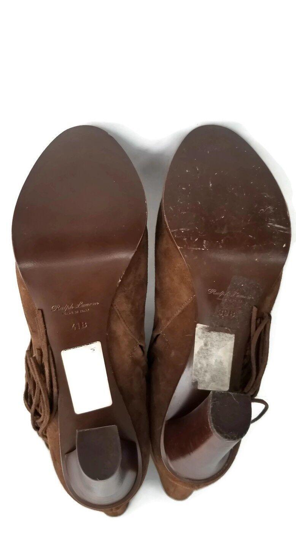 Ralph Lauren Purple Purple Purple Label Fringe Suede Boots Aisian Print Size One39 One41New  8e617a