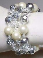 Cezanne Sensitive Skin Crystal Rhinestone Silver Chain Bracelet Toggle Clasp