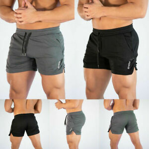 Men-039-s-Swim-Fitted-Shorts-Bodybuilding-Workout-Gym-Running-Tight-Lifting-Shorts