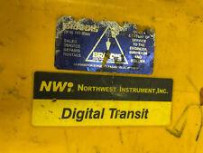 Northwest Instrument Nwi Theodolite Neth503 5 Digital Survey Transit