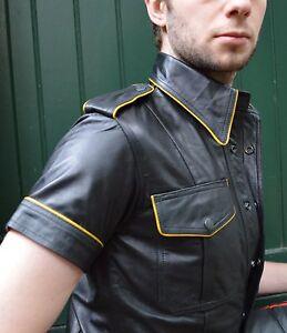 Aw With Lederhemd Piping leder En Mit Absätze leather 665 Shirt Cuir Hemd qgOwrS5qn8