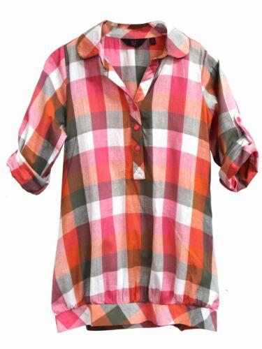 Le ragazze Check Camicia Taglio Lungo Camicie MULTI COLORE TUNICA età 7 8 9 10 11 12 13 anni