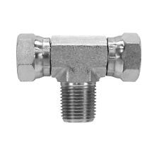 1601 06 06 06 Hydraulic Fitting 38 Male Pipe X 38 Female Pipe Swivel Tee