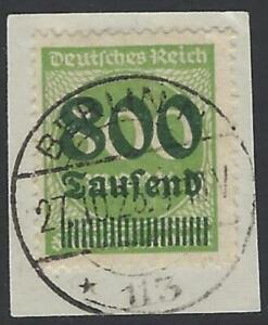 Deutsches-Reich-1923-DR-INFLA-Berlin-MiNr-307-A-gestempelt-800-Tsd-auf-500-M