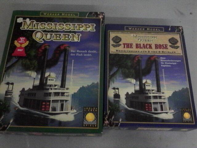 MISSISSIPPI QUEEN QUEEN QUEEN + schwarz Rosa splendid award winning game + expansion RARE 6c4078