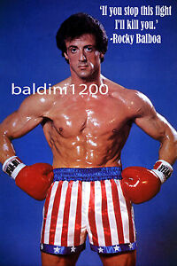 ROCKY-STALLONE-AWESOME-MOVIE-POSTER-PRINT-WITH-QUOTE-LOOKS-GREAT-FRAMED