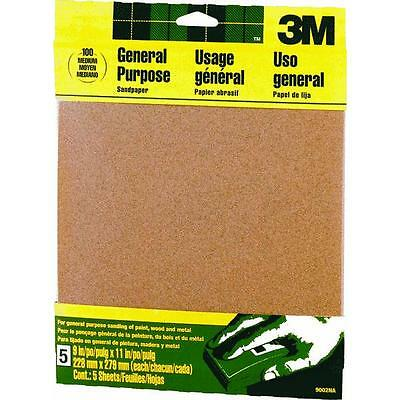 "100% Waar 50 Pk 3m All-purpose Sandpaper 9"" X 11"" Medium Grit 5 Sheets/pk 9002 100% Garantie"