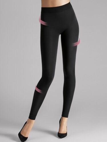 embalaje original Wolford Velvet 100 leg support leggings Black formend nuevo