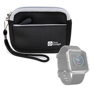 Black-Neoprene-Case-for-Fitbit-Blaze-Smartwatch-with-Additional-Storage