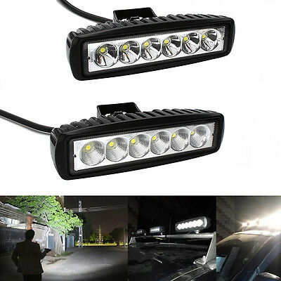 18W Spot LED Work Light Bar Car Truck Boat Driving Lamp Fog Offroad SUV 4WD
