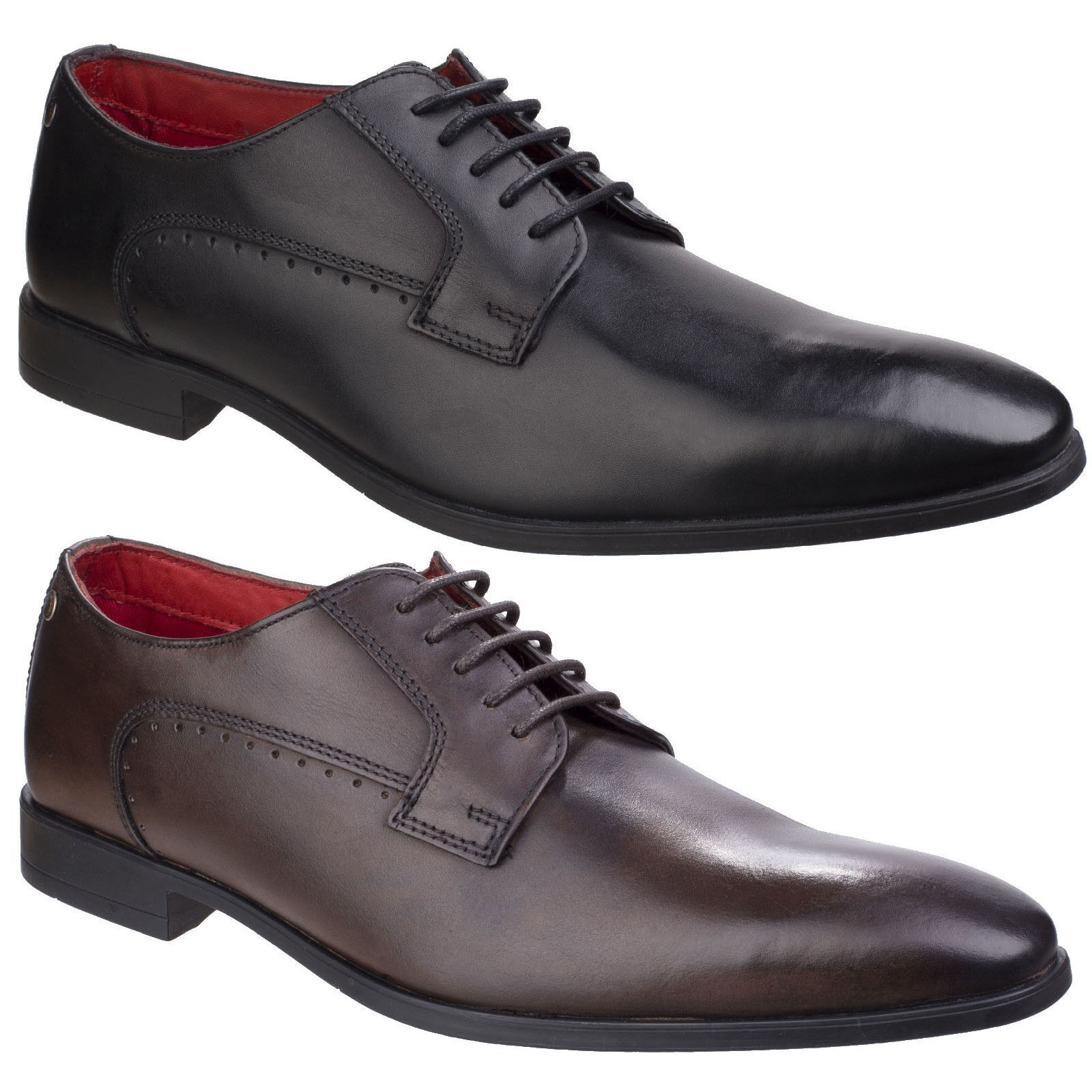 Base London Penny Washed Mens Formal Lace Up Smart shoes