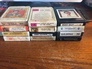 LOT-OF-12-8-TRACK-TAPES-Classic-Country-Music-Mickey-Gilley-Paycheck-Reeves