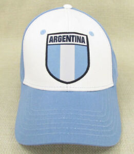 3f9d9bca54e WORLD SPORT Youth Unisex National Soccer Team Hat Cap Argentina Blue ...