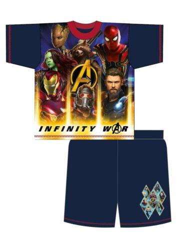 Boys Kid Avengers Shorts Pyjamas Short Sleevs Summer PJs Infinity War Endgame