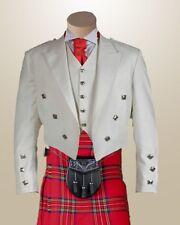 White Prince Charlie Jacket & Waistcoat | Scottish K | Made To Measure