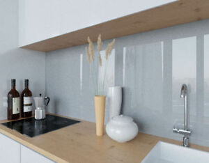 LACOBEL Grey Metal lackiertes Glas silbergrau Küchenrückwand nach ...
