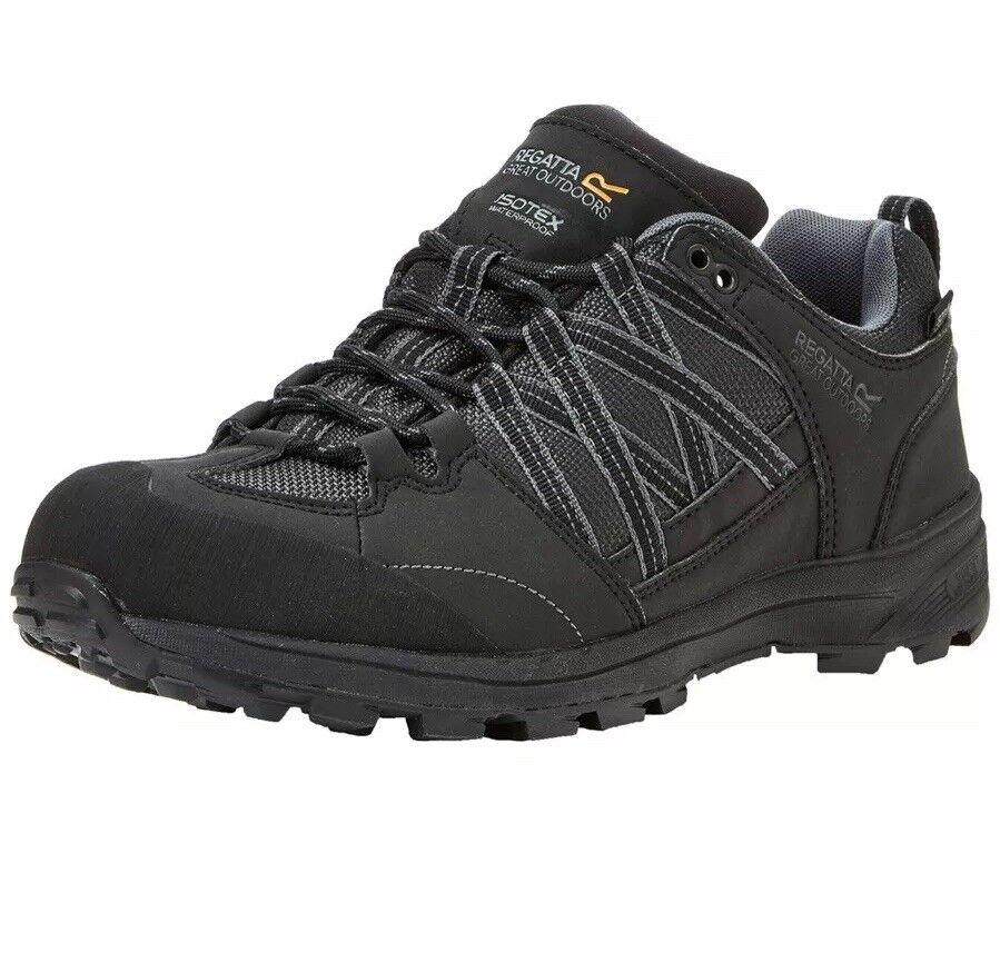 REGATTA Para Hombres Zapatos De Senderismo samaris LL bajo granito negro