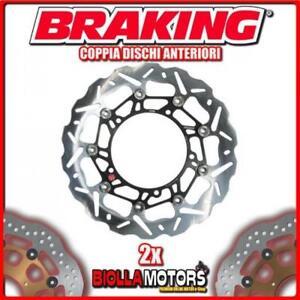 WK001L-WK001R-2x-DISQUES-DE-FREIN-AVANT-DX-SX-BRAKING-LAVERDA-SPORT-650cc-1999
