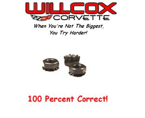 68-82 Corvette Windshield Motor Mounting Nut Set Correct 336060A 3PCS