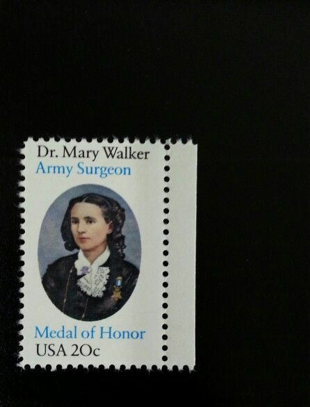 1982 20c Dr. Mary Walker, Army Surgeon, Medal of Honor