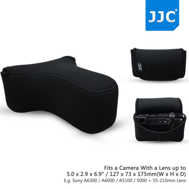 JJC 143*180*79mm Camera Pouch Case Bag for Sony A6000 A6300 A5100+55-210mm Lens
