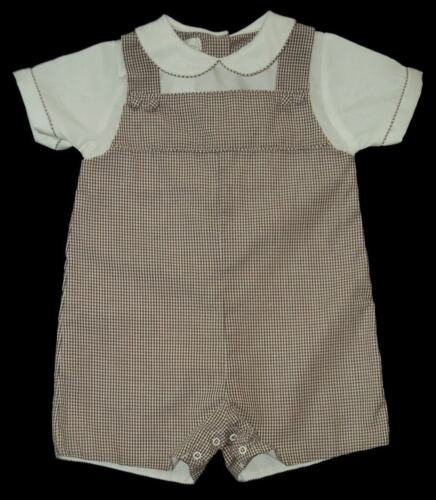 Boys PETIT AMI Brown Classic Collared Romper 9m Onepiece Portrait Set Outfit