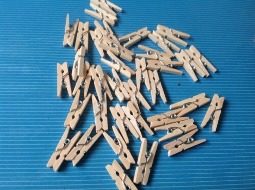 Casa De Muñecas 12 clavijas de ropa de madera