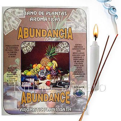SPIRITUAL PLANT BATH: ABUNDANCE - ABUNDANCIA Herb Bano Despojo Limpia  Santeria | eBay